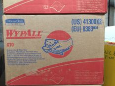 1 LOT TO CONTAIN AN AS NEW BOX OF WYPALL X70 WIPERS / RRP £25.00