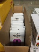 1 LOT TO CONTAIN A BOX OF 20 X AS NEWTHERMOMETERS IN VARIOUS COLOURS