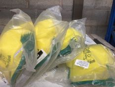 1 LOT TO CONTAIN 24 X AS NEW LITTER PATROL YELLOW AND GREEN BASEBALL CAPS