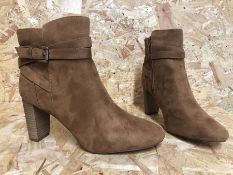 1 X PAIR OF LA REDOUTE COLLECTIONS BLOCK HEEL ANKLE BOOTS / SIZE: 6.5 / RRP £58.00 / GRADE A