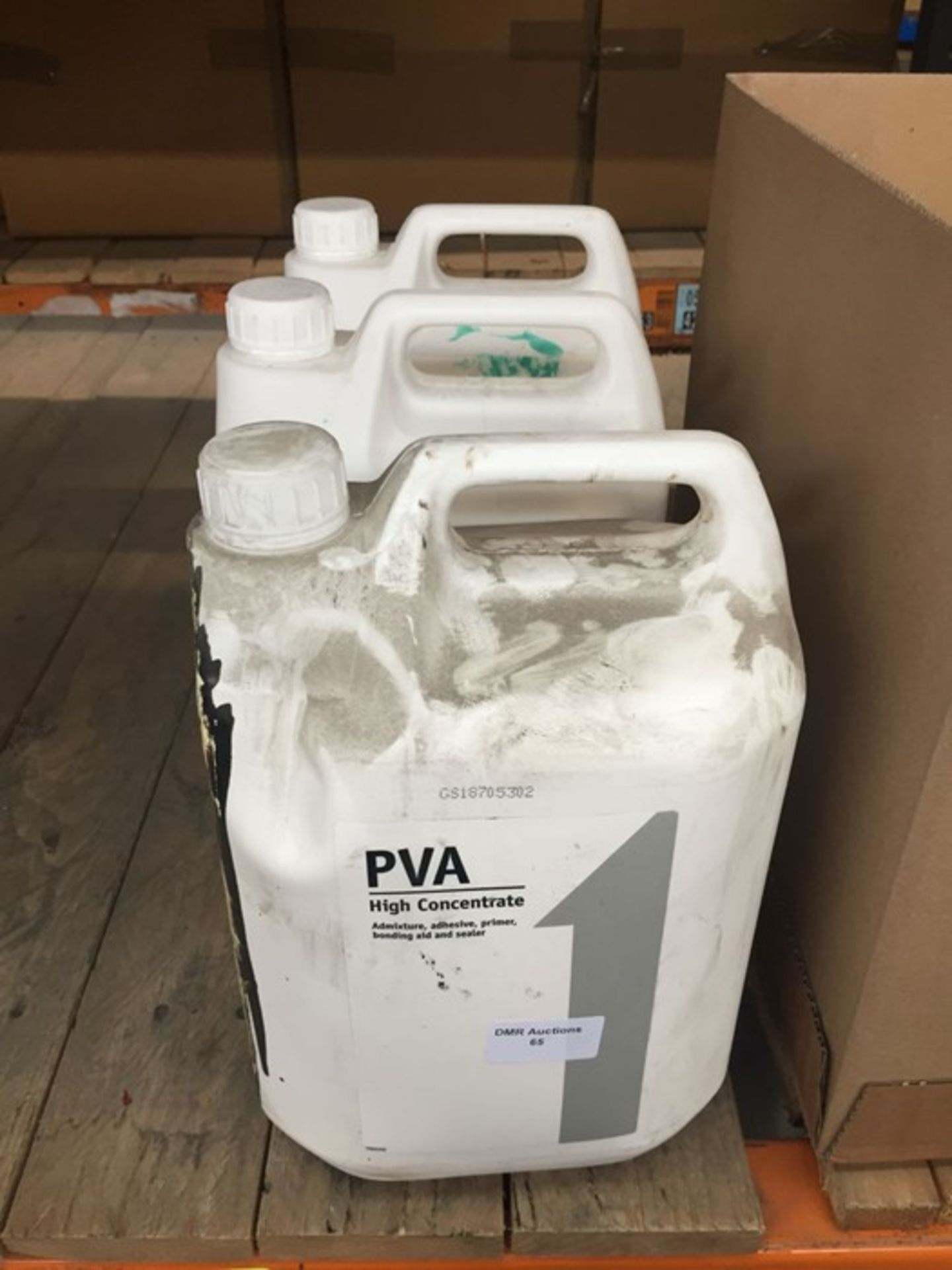1 LOT TO CONTAIN 3 X 5L TUBS OF HIGH CONCENTRATE PVA GLUE