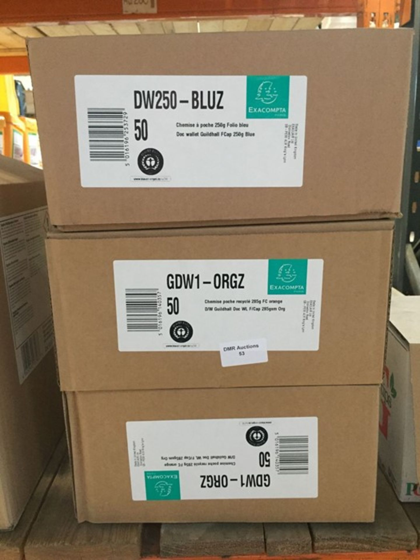 1 LOT TO CONTAIN 3 X AS NEW BOXES OF BLUE EXACOMPTA FILES 285GSM