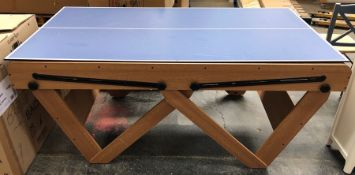 BCE 6FT DELUXE POOL AND TABLE TENNIS TABLE