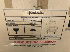 JOHN LEWIS ARCH ARMCHAIR - TOPAZ NAVY