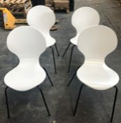 4 x JOHN LEWIS CRESCENT DINING CHAIRS
