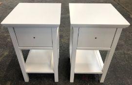 2 x JOHN LEWIS WILTON BEDSIDE TABLES