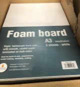 5 X PACKS OF A3 FOAM BOARDS / AS NEW