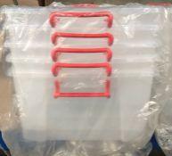 5 X 50L STORAGE BOXES