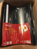 6 X PACKS OF STAPLES A4 REPORT FILES / AS NEW