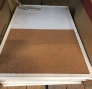 8 X WHITE/WRITING BOARDS / AS NEW