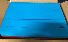 2 X BOXES OF ELBA DOCUMENT WALLETS - VARYING COLOURS, 25 PER BOX (AS NEW) / ALSO COMES WITH 2 X A3 R