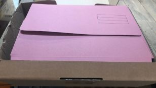 4 X BOXES OF DOCUMENT WALLETS - PINK, 50 PER BOX / AS NEW