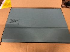 1 X BOX TO CONTAIN GUILDHALL DOCUMENT WALLETS - BLUE, 50 PER BOX / AS NEW