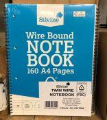 10 X SILVINE WIRE BOUND NOTE BOOKS / AS NEW