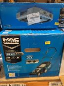 1 X MAC ALLISTER MLM3635-LI-3 CORDLESS 36V PUSH LAWNMOWER (UNTESTED CUSTOMER RETURNS) RRP £210.00