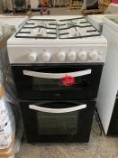 LOGIK LFTC50W16 ELECTRIC COOKER / RRP £289.00 /MISSING BURNER CROWNS AND FLAME HEADS/ UNTESTED
