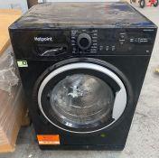 HOTPOINT 9KG WASHING MACHINE NSWM 943 BS / RRP £349.99 / UNTESTED CUSTOMER RETURN, MINOR WEAR.