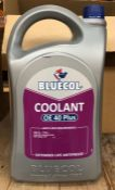 4 X BOTTLES OF BLUECOL COOLANT OE 40 PLUS, EXTENDED LIFE ANTIFREEZE - 5ltr PER BOTTLE / COMBINED RRP