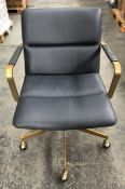 WEST ELM COOPER MID-CENTURY LEATHER OFFICE CHAIR