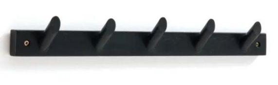 1 X SLOFIA SOLID BIRCH COAT RACK WITH 5 HOOKS / GRADE A / RRP £22.00