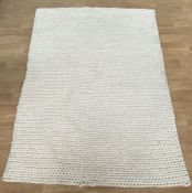 LA REDOUTE DIANO PURE WOOL KNIT EFFECT RUG (160X230)