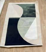 LA REDOUTE MICHELLE COLLINS NEUTRAL ABSTRACT RUG IN 100% WOOL 150X220CM