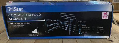 1 X TRISTAR COMPACT TRI-FOLD AERIAL KIT / RRP £28.49
