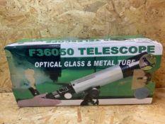 1 X F36050 TELESCOPE OPTICAL GLASS & METAL TUBE / RRP £28.00