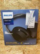 1 X PHILIPS OVER EAR 8000 SERIES BLUETOOTH HEADPHONES / RRP £129.99