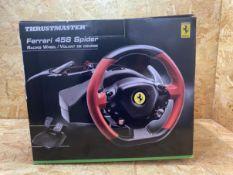 1 X THRUSTMASTER FERRARI 458 SPIDER RACING WHEEL / RRP £99.99