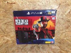 1 X TESTED WORKING PS4 PRO RED DEAD REDEMPTION II BUNDLE 1TB / RRP £390.00