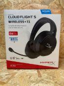 1 X HYPERX CLOUD FLIGHT S WIRELESS + 7.1 / RRP £74.99