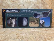 1 X CELESTRON ULTIMA 65MM SPOTTING SCOPE / RRP £139.99
