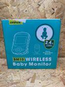 1 X CAMPARK BM10 WIRELESS BABY MONITOR / RRP £59.99