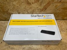 1 X STARTECH.COM USB 3.0 HDMI LAPTOP DOCKING STATION WITH AUDIO AND ETHERNET / RRP £104.99