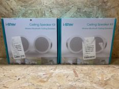 2 X I-STAR CEILING SPEAKER KITS / COMBINED RRP £199.98