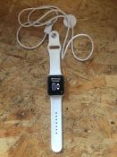 1 X APPLE WATCH SERIES 3 WITH WHITE STRAPS AND CHARGING CABLE / RRP £197.00