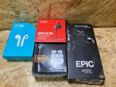 1 X LOT TO CONTAIN 4 ASSORTED EARPHONES