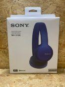 1 X SONY WH-CH510 WIRELESS HEADPHONES / RRP £39.99