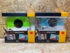 2 X KODAK PRINTOMATIC DIGITAL PRINT CAMERA / COMBINED RRP £99.98