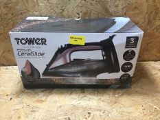 1 X TOWER CERAGLIDE STEAM IRON / RRP £24.99