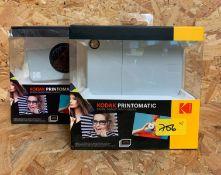 2 x BOXED KODAK PRINTOMATIC DIGITAL INSTANT PRINT CAMERAS / RRP £99.98