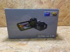 1 X ULTRA HD 2.7K CAMERA / RRP £39.99