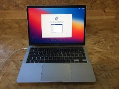 """1 X TESTED WORKING 2020 MACBOOK AIR WITH APPLE M1 CHIP 13"""", 256GB SSD, 8GB RAM, SILVER / RRP £1000"""