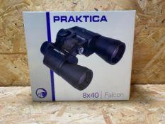 1 X PRAKTICA 8X40 FALCON BINOCULARS / RRP £39.99