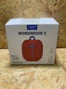 1 X ULITMATE EARS WONDERBOOM 2 BLUETOOTH SPEAKER / RRP £72.99