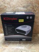 1 X DIMPLEX 3KW FLAT FAN HEATER / RRP £28.95