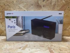 1 X GROOVE PARIS PORTABLE DIGITAL RADIO / RRP £24.99
