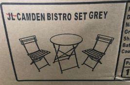 JOHN LEWIS CAMDEN GARDEN BISTRO TABLE & CHAIRS SET - GREEN