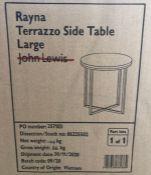 JOHN LEWIS RAYNA TERRAZZO LARGE SIDE TABLE